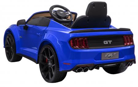 Masinuta electrica Premier Ford Mustang, 12V, roti cauciuc EVA, scaun piele ecologica, albastru [7]