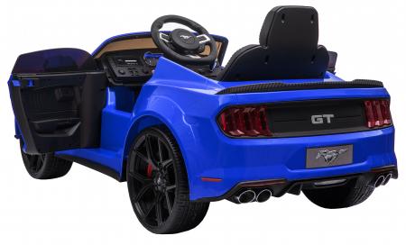 Masinuta electrica Premier Ford Mustang, 12V, roti cauciuc EVA, scaun piele ecologica, albastru [13]