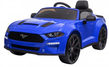 Masinuta electrica Premier Ford Mustang, 12V, roti cauciuc EVA, scaun piele ecologica, albastru [3]