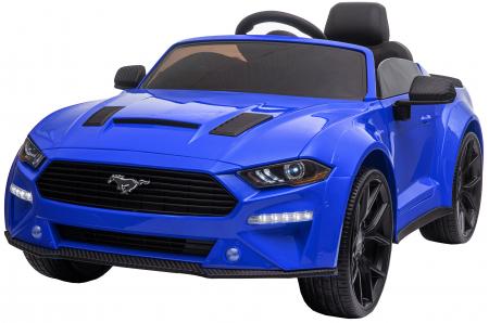 Masinuta electrica Premier Ford Mustang, 12V, roti cauciuc EVA, scaun piele ecologica, albastru [0]