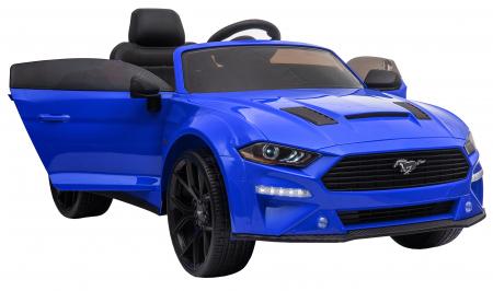 Masinuta electrica Premier Ford Mustang, 12V, roti cauciuc EVA, scaun piele ecologica, albastru [16]