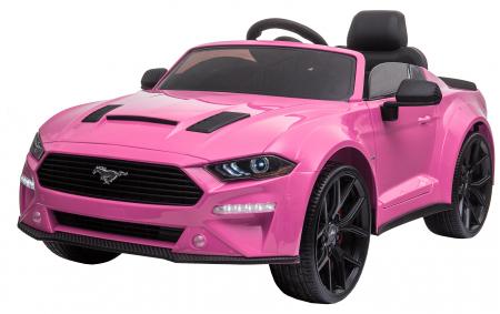 Masinuta electrica Premier Ford Mustang, 12V, roti cauciuc EVA, scaun piele ecologica, roz [2]