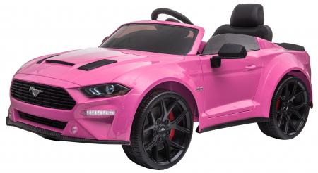 Masinuta electrica Premier Ford Mustang, 12V, roti cauciuc EVA, scaun piele ecologica, roz [5]