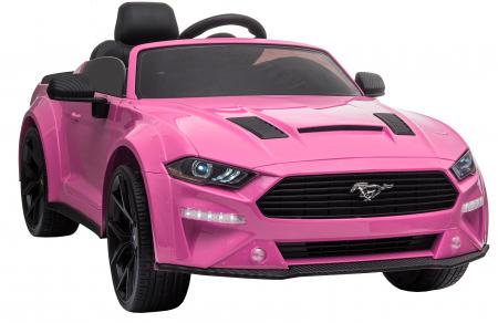 Masinuta electrica Premier Ford Mustang, 12V, roti cauciuc EVA, scaun piele ecologica, roz [12]