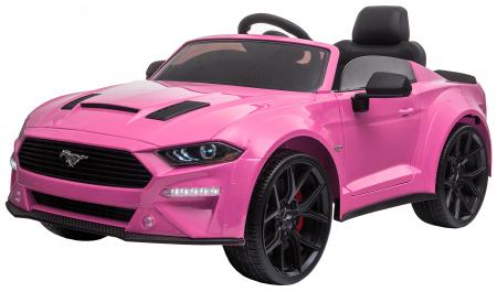 Masinuta electrica Premier Ford Mustang, 12V, roti cauciuc EVA, scaun piele ecologica, roz [4]