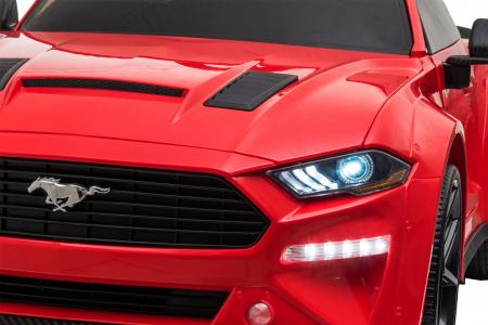 Masinuta electrica Premier Ford Mustang, 12V, roti cauciuc EVA, scaun piele ecologica, rosu [33]
