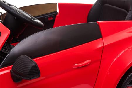 Masinuta electrica Premier Ford Mustang, 12V, roti cauciuc EVA, scaun piele ecologica, rosu [23]
