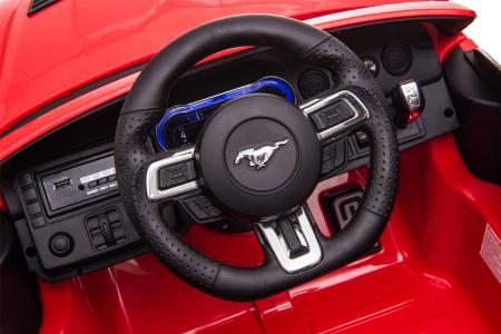 Masinuta electrica Premier Ford Mustang, 12V, roti cauciuc EVA, scaun piele ecologica, rosu [24]