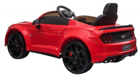 Masinuta electrica Premier Ford Mustang, 12V, roti cauciuc EVA, scaun piele ecologica, rosu [7]