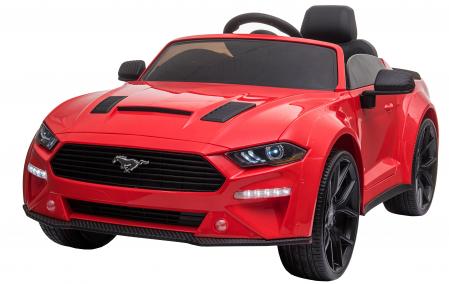 Masinuta electrica Premier Ford Mustang, 12V, roti cauciuc EVA, scaun piele ecologica, rosu [0]