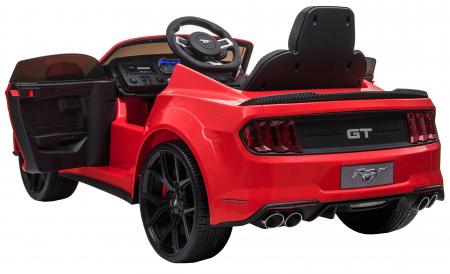 Masinuta electrica Premier Ford Mustang, 12V, roti cauciuc EVA, scaun piele ecologica, rosu [14]