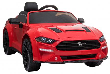 Masinuta electrica Premier Ford Mustang, 12V, roti cauciuc EVA, scaun piele ecologica, rosu [12]