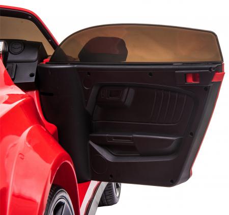 Masinuta electrica Premier Ford Mustang, 12V, roti cauciuc EVA, scaun piele ecologica, rosu [29]
