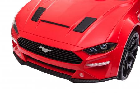 Masinuta electrica Premier Ford Mustang, 12V, roti cauciuc EVA, scaun piele ecologica, rosu [19]