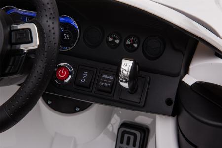 Masinuta electrica Premier Ford Mustang, 12V, roti cauciuc EVA, scaun piele ecologica, alb [26]