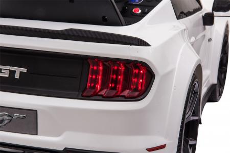 Masinuta electrica Premier Ford Mustang, 12V, roti cauciuc EVA, scaun piele ecologica, alb [33]