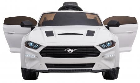 Masinuta electrica Premier Ford Mustang, 12V, roti cauciuc EVA, scaun piele ecologica, alb [13]