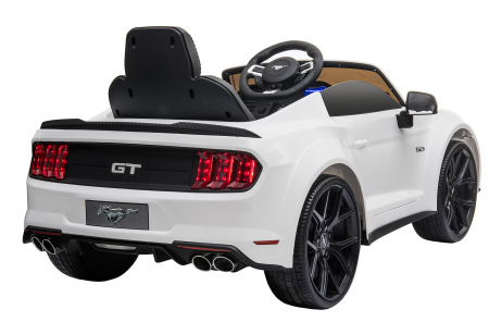 Masinuta electrica Premier Ford Mustang, 12V, roti cauciuc EVA, scaun piele ecologica, alb [9]