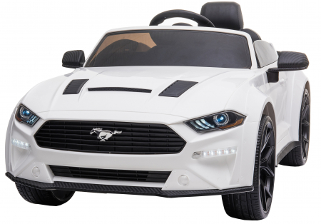 Masinuta electrica Premier Ford Mustang, 12V, roti cauciuc EVA, scaun piele ecologica, alb [0]