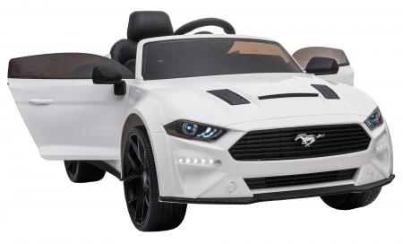 Masinuta electrica Premier Ford Mustang, 12V, roti cauciuc EVA, scaun piele ecologica, alb [18]