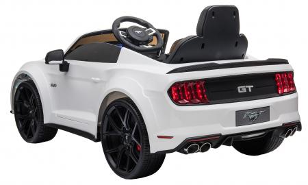 Masinuta electrica Premier Ford Mustang, 12V, roti cauciuc EVA, scaun piele ecologica, alb [7]
