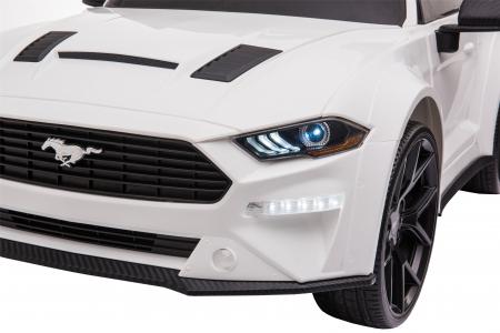 Masinuta electrica Premier Ford Mustang, 12V, roti cauciuc EVA, scaun piele ecologica, alb [32]