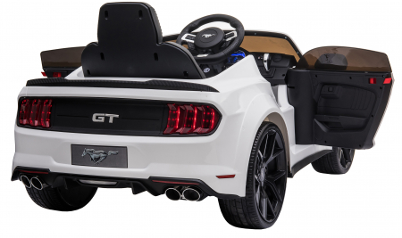 Masinuta electrica Premier Ford Mustang, 12V, roti cauciuc EVA, scaun piele ecologica, alb [17]
