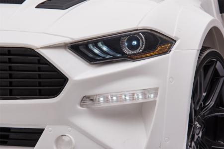 Masinuta electrica Premier Ford Mustang, 12V, roti cauciuc EVA, scaun piele ecologica, alb [21]