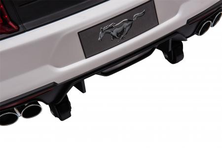 Masinuta electrica Premier Ford Mustang, 12V, roti cauciuc EVA, scaun piele ecologica, alb [30]