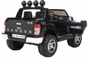 Masinuta electrica Premier Ford Ranger, 12V, roti cauciuc EVA, scaun piele ecologica, negru [4]