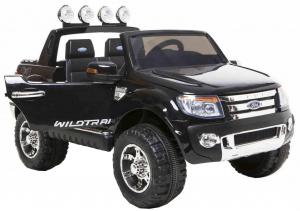 Masinuta electrica Premier Ford Ranger, 12V, roti cauciuc EVA, scaun piele ecologica, negru [0]