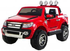 Masinuta electrica Premier Ford Ranger, 12V, roti cauciuc EVA, scaun piele ecologica, rosu0
