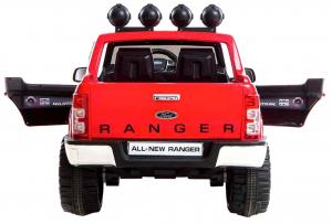 Masinuta electrica Premier Ford Ranger, 12V, roti cauciuc EVA, scaun piele ecologica, rosu5