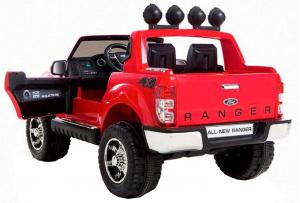Masinuta electrica Premier Ford Ranger, 12V, roti cauciuc EVA, scaun piele ecologica, rosu2