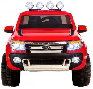 Masinuta electrica Premier Ford Ranger, 12V, roti cauciuc EVA, scaun piele ecologica, rosu4