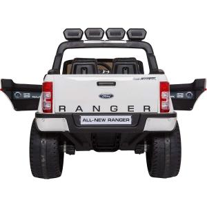 Masinuta electrica Premier Ford Ranger 4x4, 12V, roti cauciuc EVA, scaun piele ecologica, alb7