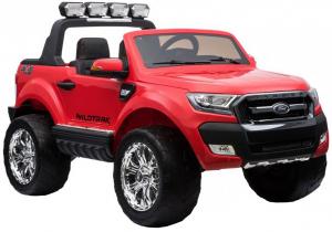 Masinuta electrica Premier Ford Ranger 4x4, 12V, roti cauciuc EVA, scaun piele ecologica, rosu9