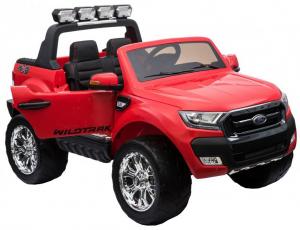 Masinuta electrica Premier Ford Ranger 4x4, 12V, roti cauciuc EVA, scaun piele ecologica, rosu11