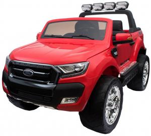Masinuta electrica Premier Ford Ranger 4x4, 12V, roti cauciuc EVA, scaun piele ecologica, rosu0