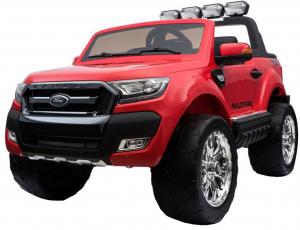 Masinuta electrica Premier Ford Ranger 4x4, 12V, roti cauciuc EVA, scaun piele ecologica, rosu10