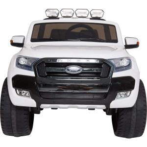 Masinuta electrica Premier Ford Ranger 4x4, 12V, roti cauciuc EVA, scaun piele ecologica, alb4