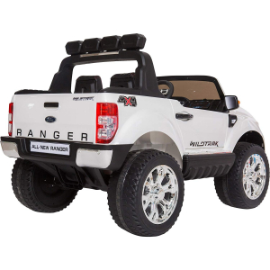 Masinuta electrica Premier Ford Ranger 4x4, 12V, roti cauciuc EVA, scaun piele ecologica, alb8