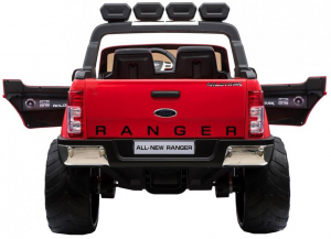 Masinuta electrica Premier Ford Ranger 4x4, 12V, roti cauciuc EVA, scaun piele ecologica, rosu7