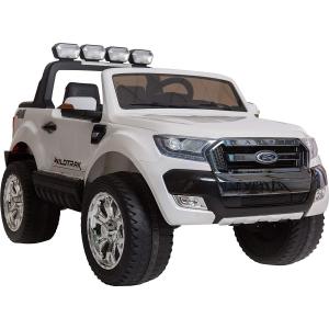 Masinuta electrica Premier Ford Ranger 4x4, 12V, roti cauciuc EVA, scaun piele ecologica, alb3