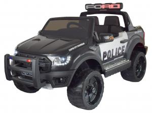 Masinuta electrica politie Premier Ford Raptor, 12V, roti cauciuc EVA, scaun piele ecologica negru0