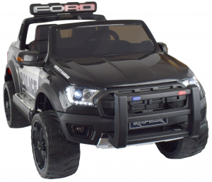 Masinuta electrica politie Premier Ford Raptor, 12V, roti cauciuc EVA, scaun piele ecologica negru1