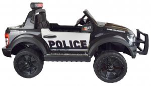 Masinuta electrica politie Premier Ford Raptor, 12V, roti cauciuc EVA, scaun piele ecologica negru4