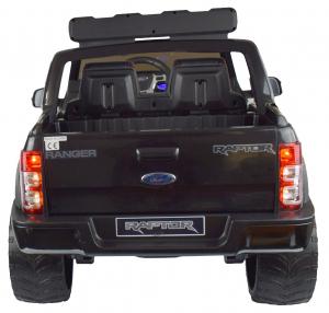 Masinuta electrica politie Premier Ford Raptor, 12V, roti cauciuc EVA, scaun piele ecologica negru6