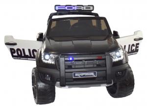 Masinuta electrica politie Premier Ford Raptor, 12V, roti cauciuc EVA, scaun piele ecologica negru10