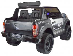 Masinuta electrica politie Premier Ford Raptor, 12V, roti cauciuc EVA, scaun piele ecologica negru5